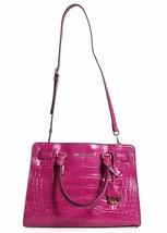 New! Michael Kors Dillon E/w Satchel Embossed Leather-ASH Fuschia - $296.88