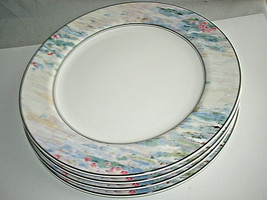"4-pc Set Mikasa Maxima MONET CAK01 Dinner Plate Pastels 10 1/2"" Never Used - $69.99"