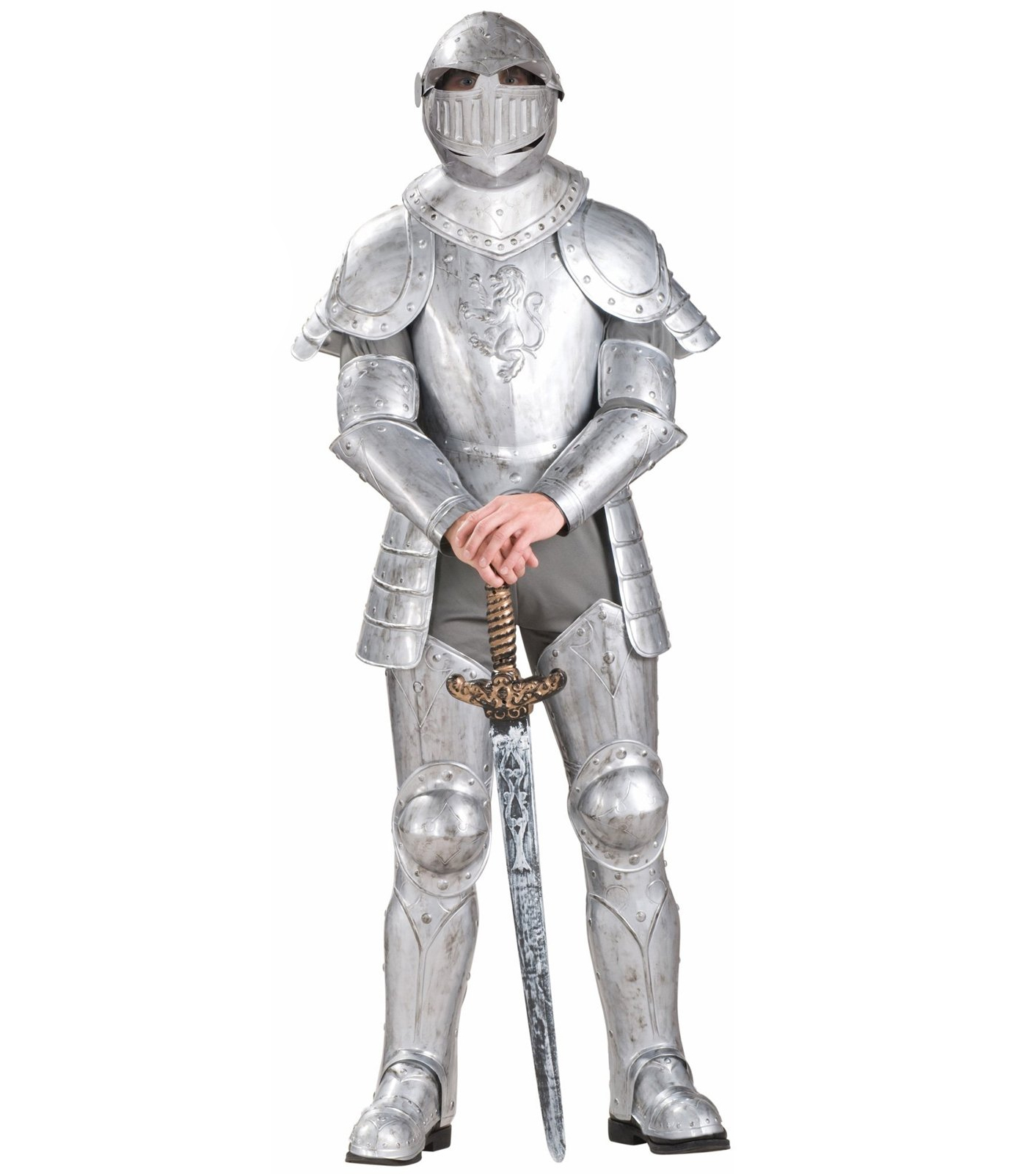 Forum Knight In Shining Armor Complete Costume, Silver, One Size - $148.31