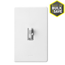 Lutron Toggler 600-watt Single Pole White Toggle Indoor Dimmer TG-600PH-WH - $31.65