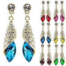 Crystal Rhinestone Teardrop Silver Gold Dangle Drop Earrings - $19.86 CAD+
