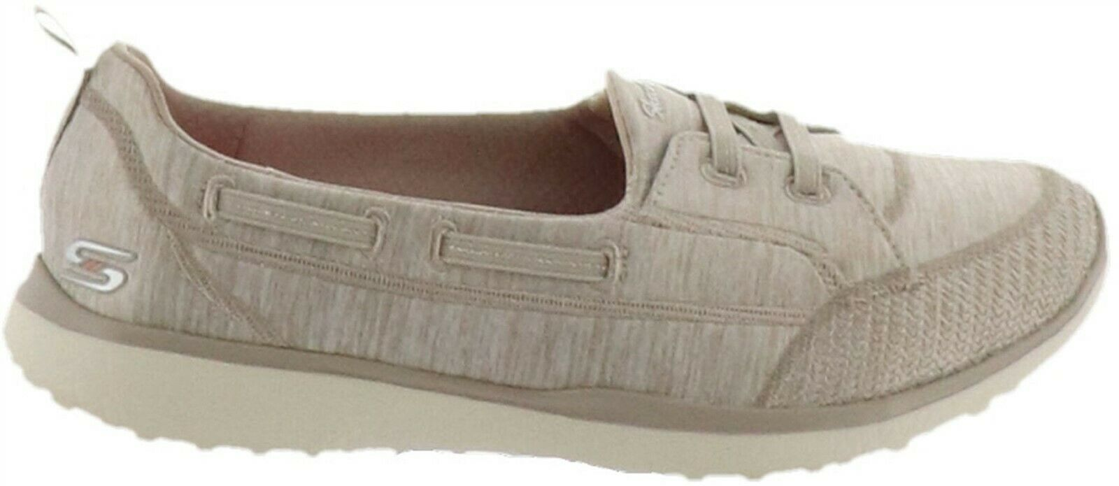 Primary image for Skechers Microburst Bungee Slip-On Shoes-Topnotch Taupe 7M NEW A302829