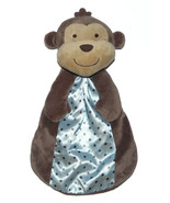 Carters Just One You Brown Monkey Security Blanket Lovey Plush Rattle Sa... - $27.60