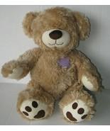 BAB Build A Bear Champ Patches Corduroy Brown Teddy Plush Stuffed Animal Heart  - $26.99