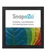 SnapeZo Black Poster Frame 37x37 Inches, 1.2 Inch Aluminum Profile, Fron... - $55.95