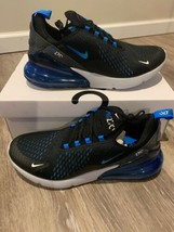 "Nike Air Max 270 Black Photo Blue ""Blue Fury"" AH8050-019 Men's Sz 9 Brand New - $129.00"