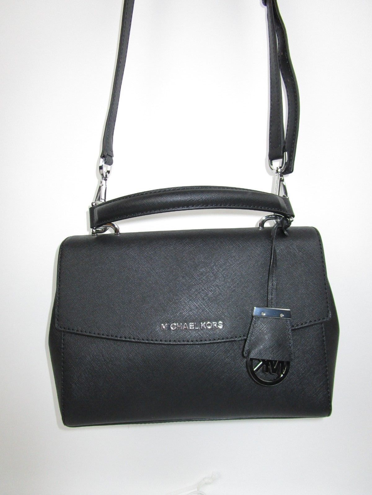 1bbb90306dac Michael Kors Ava Small Top Handle Satchel Shoulder Bag Cross-Body  268 Black