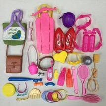 LOT OF 30+ PIECES OF BARBIE/FASHION DOLL SPORTS ACCESSORIES SCUBA HELMET... - $29.99