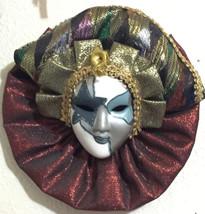 ANCO Vintage Lady Face Mask Ceramic Decor Jester Mask - $29.99