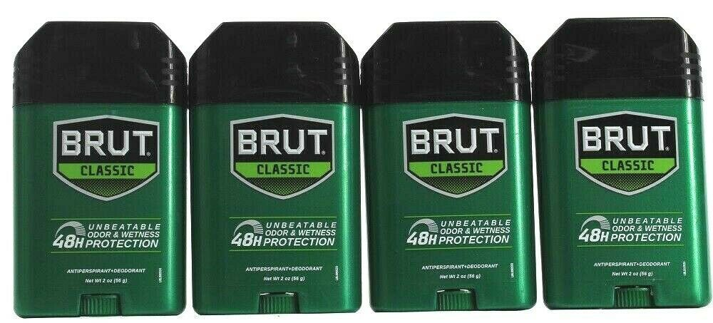 Primary image for 4 Brut Classic 48 Hour Unbeatable Long Odor Wetness Antiperspirant Deodorant 2oz