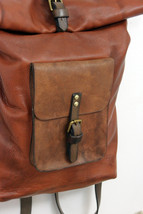 ROLL BACKPACK handmade leather & canvas backpack image 5