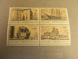 8 cent Historic Preservation 4 Stamps  Lot #2 - $2.00