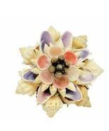 Seashell art decor figurine sculpture marine nautical sea shell clam sna... - $24.05