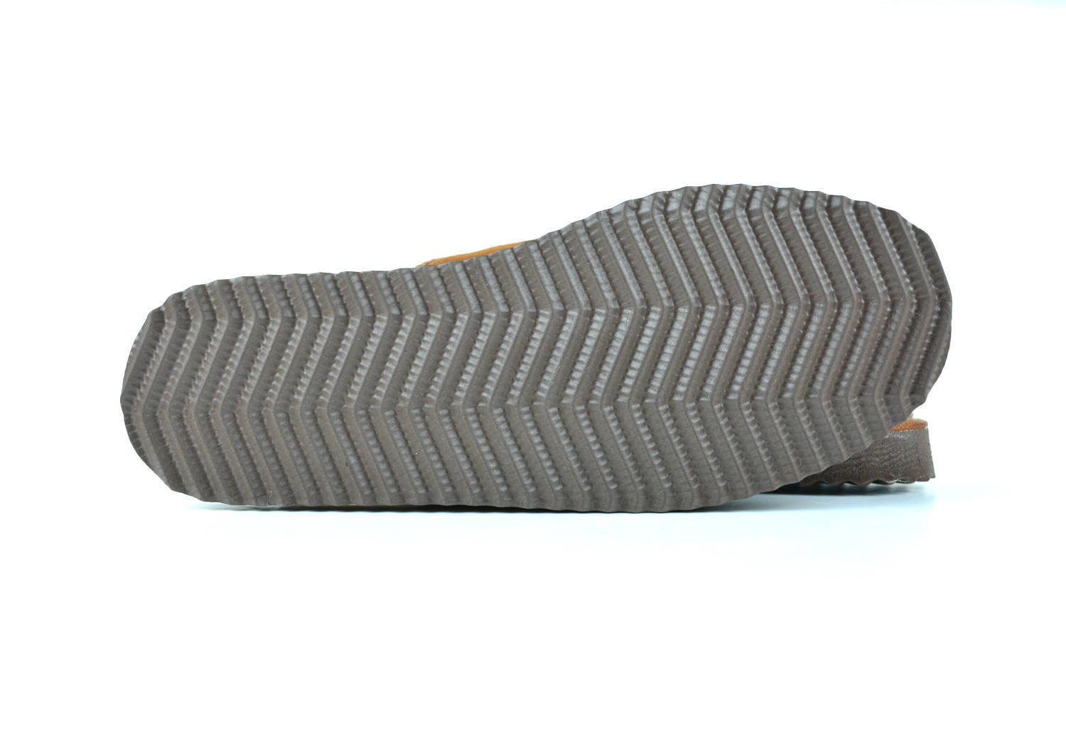 """The """"Cozy Walking"""". Light Brown Men's Slippers made with Real sheepskin Leather."""