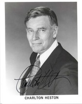 Charlton Heston (d. 2008) Signed Autographed Glossy 8x10 Photo - $49.99