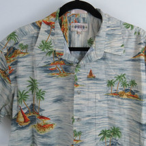 Campia Moda Hawaiian Button Front Shirt Men's Size XL Cotton - $18.76