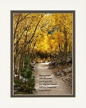 "Special Gift for Friend. Aspen Path with ""Many People Will Walk in and O... - $35.46"
