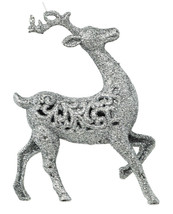 Silver Glitter Deer Ornament Seasonal - $35.64