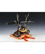 Japanese Beautiful Samurai Helmet -shikanosuke kabuto- with a Replica Blade - $334.29