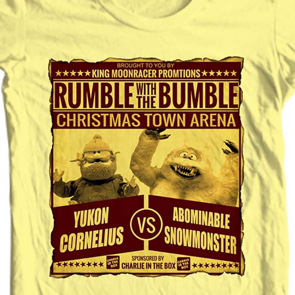 Yukon cornelius bumble t shirt christmas rudolph online t shirt store for sale yellow