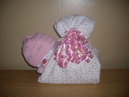 Baby Girl Organic Baby Shower Sleeping Diaper Baby Stork Bundle Diaper Cake - $27.50