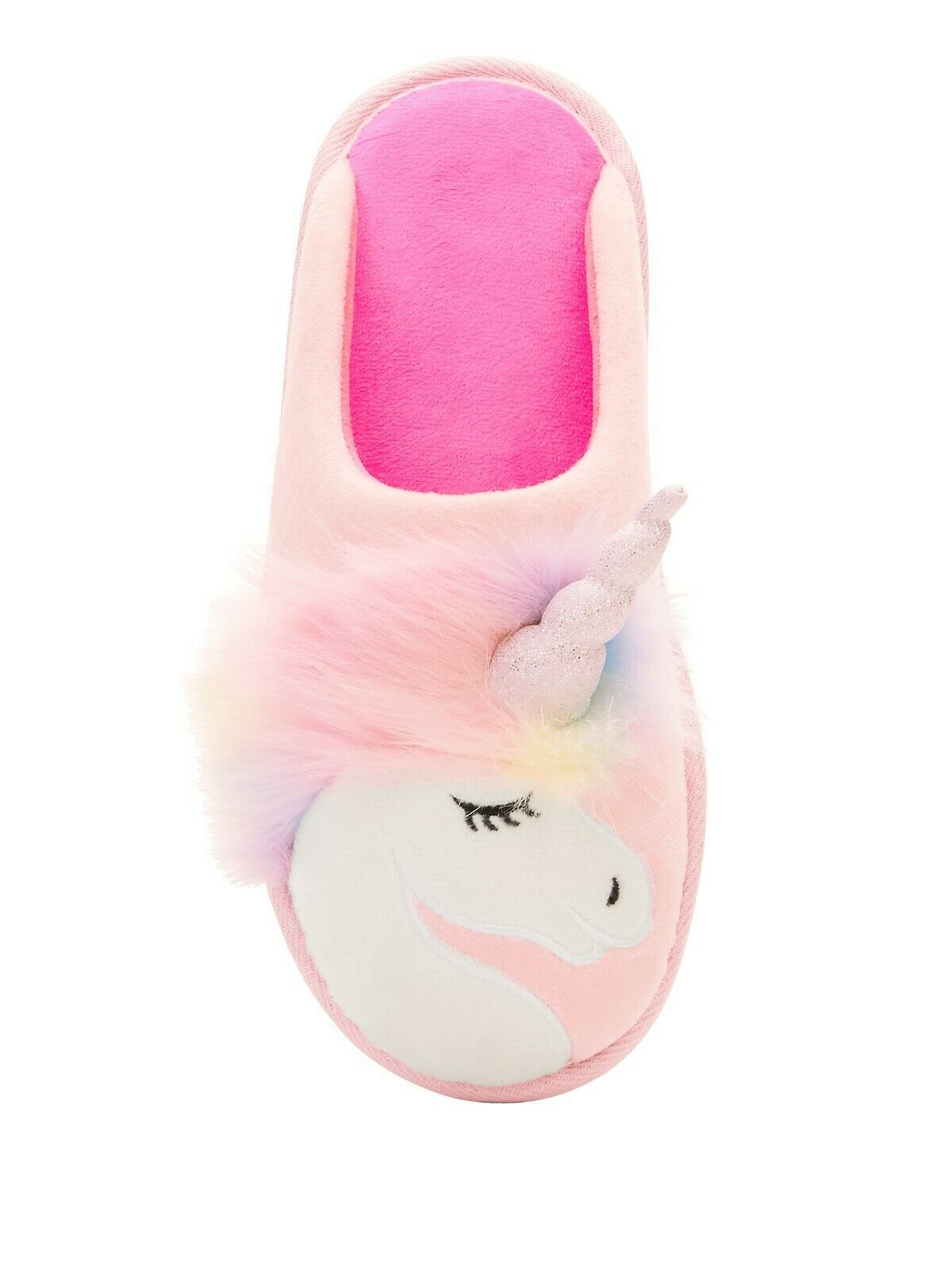 Primary image for Secret Treasures Women's Slippers Pink Unicorn Size 9/10 Indoor Outdoor NEW