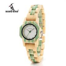 BOBO BIRD Female Wooden Watch Fashion Colors Bling Scales Dial Faces Woo... - $47.18