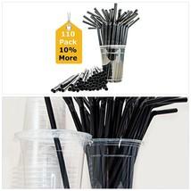 Sugarman Creations Straws Heavy Duty Disposable Plastic WITH FLEX Straw,... - $20.88 CAD