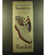 1950 Mansfield Benton Shoes Ad - For young bucks, these white bucks! - $14.99