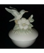 Hummingbird with a Flower on Branch Dish with Candle Scented New - $12.99