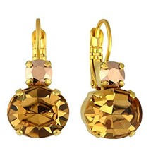 Mariana Jewelry Caramel Earrings, Gold Plated with Crystal, Nature Colle... - $52.54