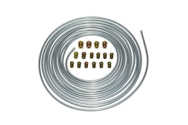 A-Team Performance Brake Line Kit 25 ft 3/16 Steel Tube Roll with Fittings
