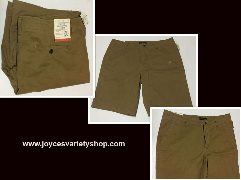 Mens aeropostale brown shorts 38 web collage