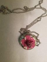 """Necklace Watch 3D Pink Flower Pocket Watch Style 16"""" Chain - $15.91"""