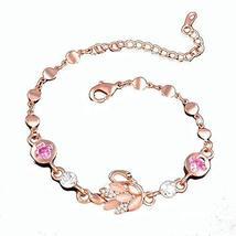 Heart-shaped Rose Gold Jewelry Amethyst Bracelet Bracelet Hand Jewelry Fashion