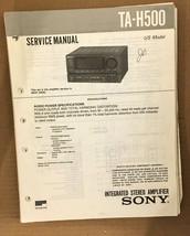 Sony TA-H500 Preamp / Preamplifier Service Manual *Original* - $18.54