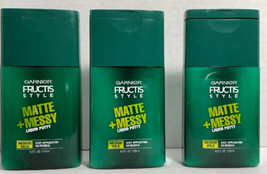 3 Garnier Fructis style Matte + Messy liquid putty Medium Hold 4.2 fl oz... - $7.86