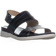 naturalizer Emory Buckle Flat Sandals, Black - $35.99