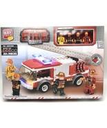 Block Tech Fire Dept. Meet The Crew Fire Rescue 254 Pieces - $18.80