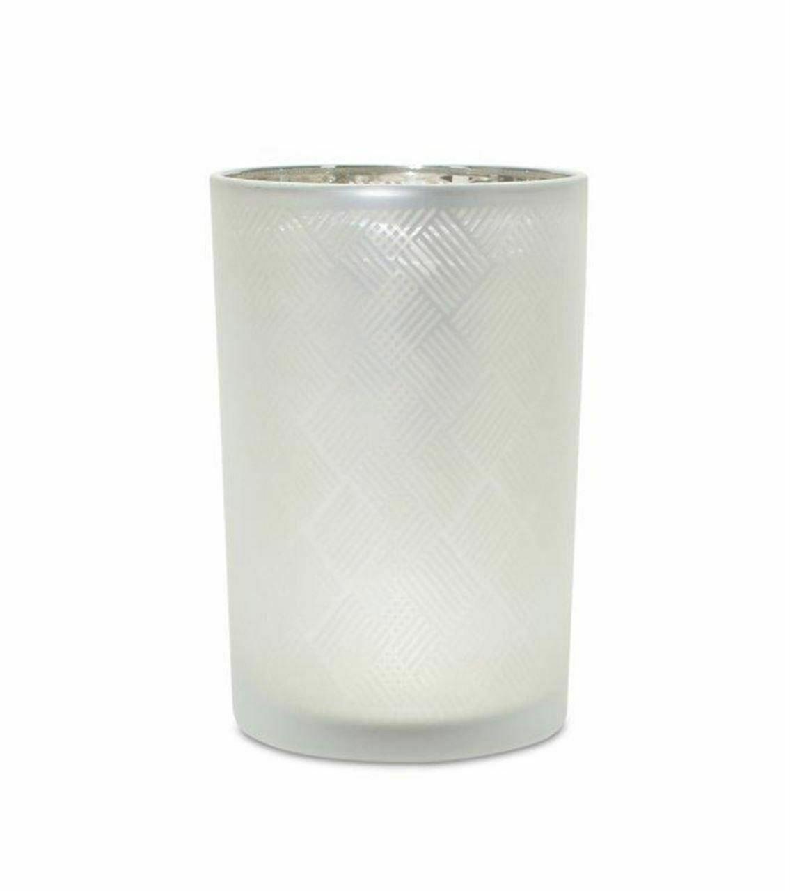 "Melrose International Silver Candle Holder (Set of 6) 4.75""D x 7.25""H Glass - $63.94"
