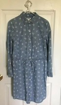 Old Navy Womens Dress L/S Chambray Floral Tie Drawstring Waist XS Extra ... - $13.99