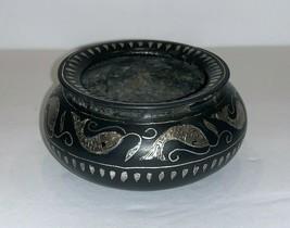Vintage Japanese Bronze Warmer Incense Burner Censer with Silver Inlay - $345.51