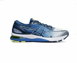 ASICS GEL-NIMBUS 21 Men's Running Shoes Sneakers White Blue 111930206-100 - $158.01