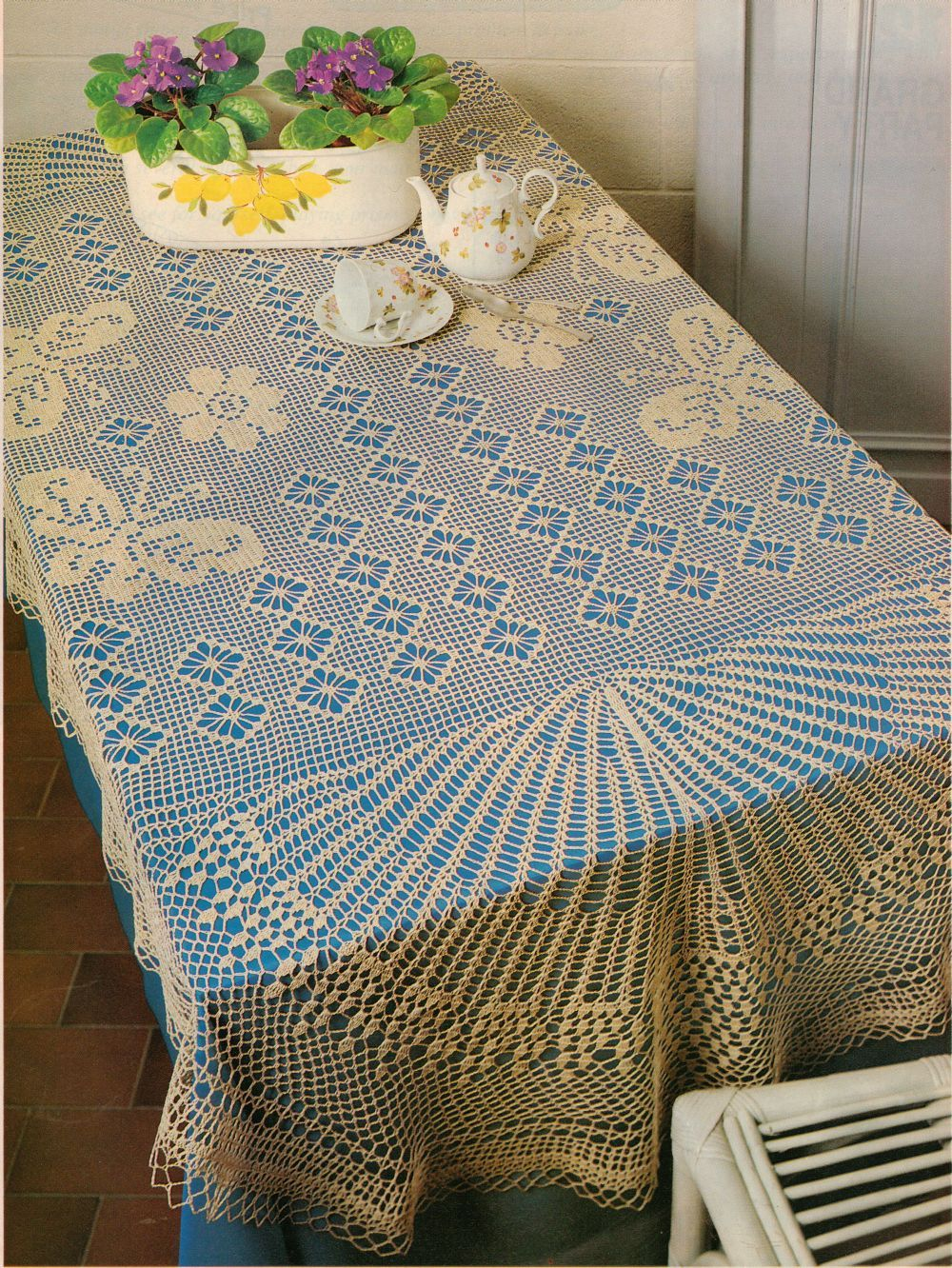 2X Challenging Butterflies Grand Party & Big Day Tablecloth Crochet Patterns