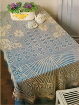 2X Challenging Butterflies Grand Party & Big Day Tablecloth Crochet Patt... - $8.99