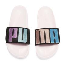Sophia Webster X Puma Parfait Pink Black Suede Leadcat Slide Sandals 7.5 NIB - $83.66