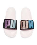 Sophia Webster X Puma Parfait Pink Black Suede Leadcat Slide Sandals 7.5... - $83.66