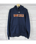 Gonzaga Bulldogs Mens Hoodie Size Large L Under Armour Navy Sweatshirt - $34.89