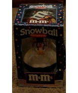 BRAND NEW IN BOX M&M's Snowball Ornament, With Candy, BRAND NEW - $19.79