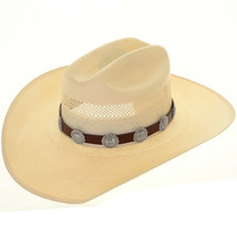 Sterling Silver Concho Hatband Hat Band Stamped Southwestern Navajo Style - $209.00